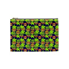 Smiley Background Smiley Grunge Cosmetic Bag (Medium)