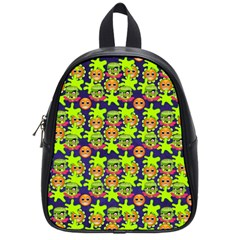 Smiley Background Smiley Grunge School Bags (small)