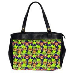 Smiley Background Smiley Grunge Office Handbags (2 Sides)