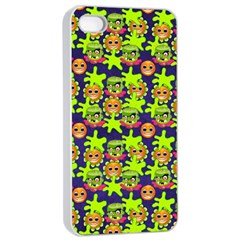 Smiley Background Smiley Grunge Apple Iphone 4/4s Seamless Case (white)