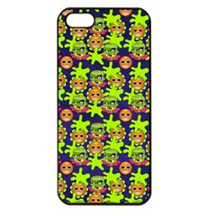 Smiley Background Smiley Grunge Apple Iphone 5 Seamless Case (black)