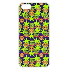 Smiley Background Smiley Grunge Apple Iphone 5 Seamless Case (white)