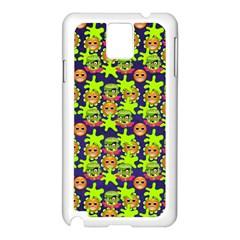 Smiley Background Smiley Grunge Samsung Galaxy Note 3 N9005 Case (white)