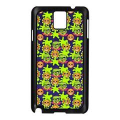 Smiley Background Smiley Grunge Samsung Galaxy Note 3 N9005 Case (black)
