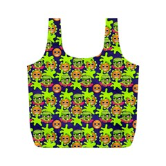 Smiley Background Smiley Grunge Full Print Recycle Bags (m)