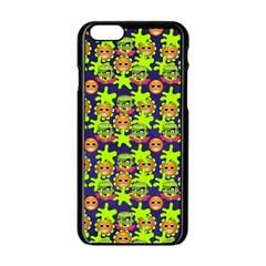Smiley Background Smiley Grunge Apple Iphone 6/6s Black Enamel Case
