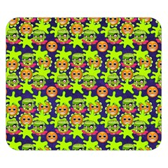 Smiley Background Smiley Grunge Double Sided Flano Blanket (small)