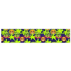 Smiley Background Smiley Grunge Flano Scarf (Small)