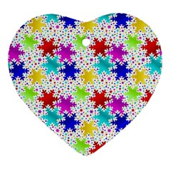 Snowflake Pattern Repeated Ornament (heart)