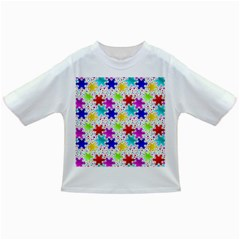 Snowflake Pattern Repeated Infant/Toddler T-Shirts