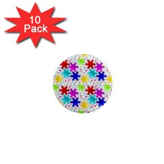 Snowflake Pattern Repeated 1  Mini Magnet (10 Pack)