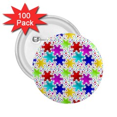 Snowflake Pattern Repeated 2.25  Buttons (100 pack)