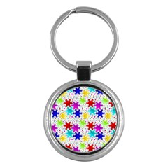 Snowflake Pattern Repeated Key Chains (Round)