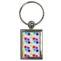 Snowflake Pattern Repeated Key Chains (Rectangle)