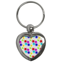Snowflake Pattern Repeated Key Chains (Heart)