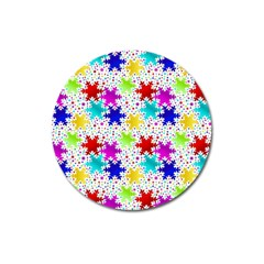 Snowflake Pattern Repeated Magnet 3  (round)