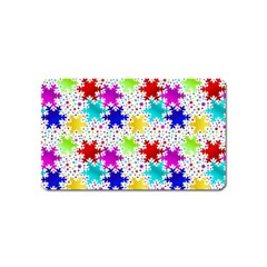 Snowflake Pattern Repeated Magnet (name Card)