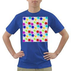 Snowflake Pattern Repeated Dark T Shirt