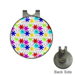 Snowflake Pattern Repeated Hat Clips With Golf Markers