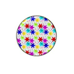 Snowflake Pattern Repeated Hat Clip Ball Marker (4 Pack)