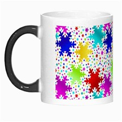 Snowflake Pattern Repeated Morph Mugs