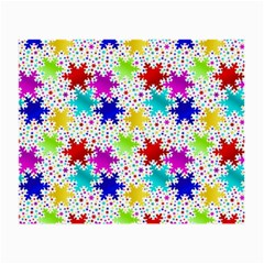 Snowflake Pattern Repeated Small Glasses Cloth