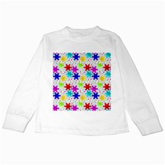 Snowflake Pattern Repeated Kids Long Sleeve T Shirts