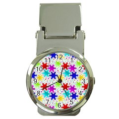 Snowflake Pattern Repeated Money Clip Watches