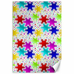 Snowflake Pattern Repeated Canvas 12  x 18