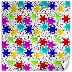 Snowflake Pattern Repeated Canvas 20  X 20
