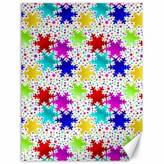 Snowflake Pattern Repeated Canvas 18  x 24