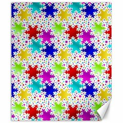 Snowflake Pattern Repeated Canvas 20  x 24