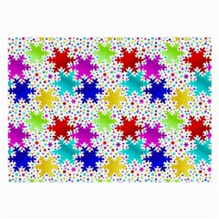 Snowflake Pattern Repeated Large Glasses Cloth