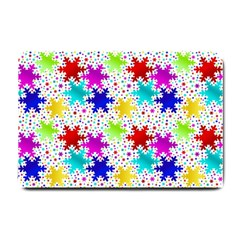 Snowflake Pattern Repeated Small Doormat