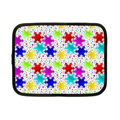 Snowflake Pattern Repeated Netbook Case (Small)