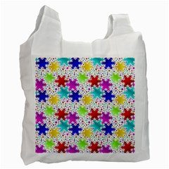 Snowflake Pattern Repeated Recycle Bag (two Side)