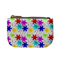 Snowflake Pattern Repeated Mini Coin Purses