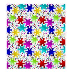 Snowflake Pattern Repeated Shower Curtain 66  x 72  (Large)