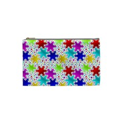 Snowflake Pattern Repeated Cosmetic Bag (Small)