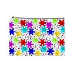 Snowflake Pattern Repeated Cosmetic Bag (large)