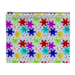Snowflake Pattern Repeated Cosmetic Bag (XL)