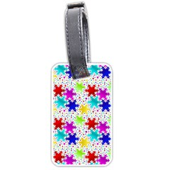 Snowflake Pattern Repeated Luggage Tags (one Side)