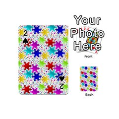 Snowflake Pattern Repeated Playing Cards 54 (Mini)