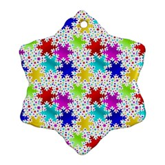 Snowflake Pattern Repeated Snowflake Ornament (Two Sides)