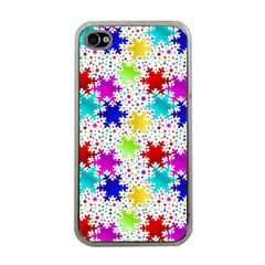 Snowflake Pattern Repeated Apple iPhone 4 Case (Clear)