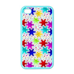 Snowflake Pattern Repeated Apple Iphone 4 Case (color)
