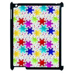 Snowflake Pattern Repeated Apple iPad 2 Case (Black)