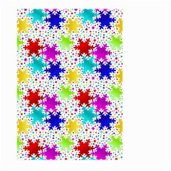 Snowflake Pattern Repeated Large Garden Flag (two Sides)