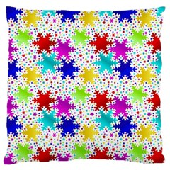Snowflake Pattern Repeated Large Cushion Case (One Side)