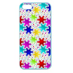 Snowflake Pattern Repeated Apple Seamless Iphone 5 Case (color)